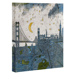 Belle13 San Francisco Starry Night Art Canvas