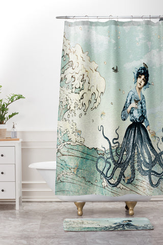 Belle13 Sea Fairy Shower Curtain And Mat
