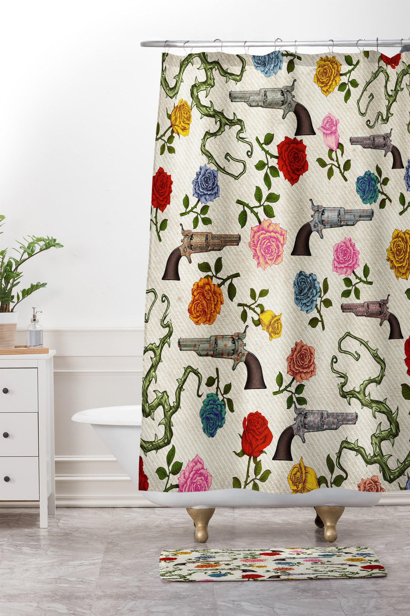 postcard curtain products shower front body vintage spirit roses x mind curtains