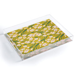 Beshka Kueser Vintage Inspired Floral Acrylic Tray