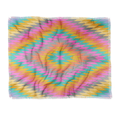 Bianca Green Ancient Rainbow Throw Blanket