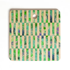 Bianca Green Floral Order Mint Cutting Board Square
