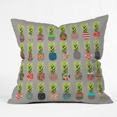 Bianca Green Pineapple Party Outdoor Throw Pillow