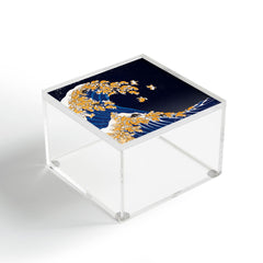 Big Nose Work Shiba Inu Great Wave at Night Acrylic Box