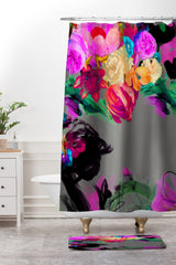 Biljana Kroll Floral Storm Shower Curtain And Mat