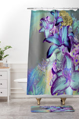 Biljana Kroll Oil Spill Florals Shower Curtain And Mat
