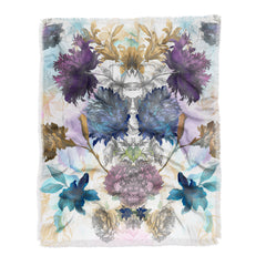 Biljana Kroll Peony Garden Throw Blanket
