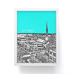 Bird Ave Athens Aqua Framed Mini Art Print