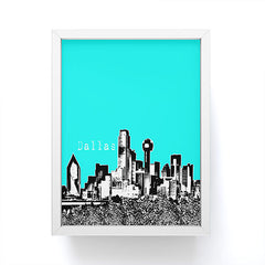 Bird Ave Dallas Aqua Framed Mini Art Print
