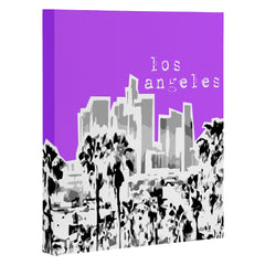 Bird Ave Los Angeles Purple Art Canvas