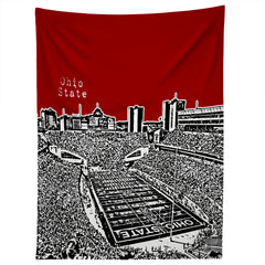 Bird Ave Ohio State Buckeyes Red Tapestry