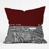 Bird Ave Texas A And M Maroon Throw Pillow