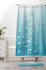 Bree Madden Bubbles In The Sky Shower Curtain And Mat