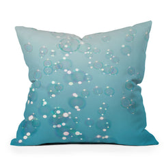 Bree Madden Bubbles In The Sky Throw Pillow