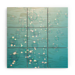 Bree Madden Bubbles In The Sky Wood Wall Mural