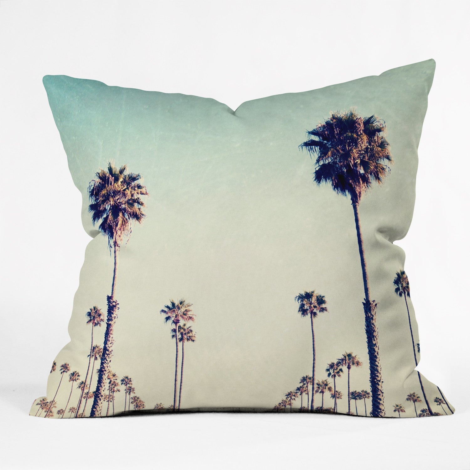 Bree Madden California Palm Trees Outdoor Throw Pillow