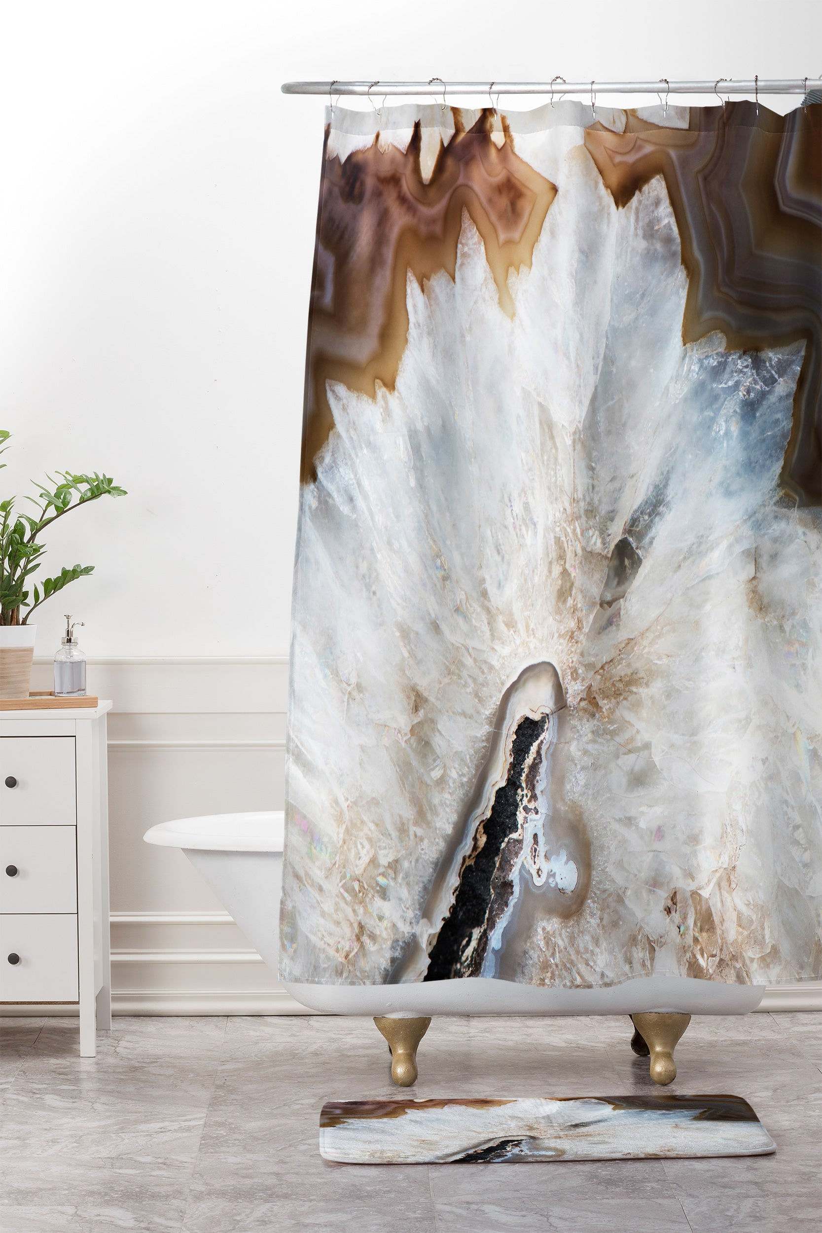 Natural Wonders Shower Curtain And Mat Bree Madden