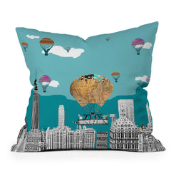 Brian Buckley Adventure Days New York Throw Pillow