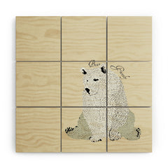 Brian Buckley Grizzly Bear Wood Wall Mural
