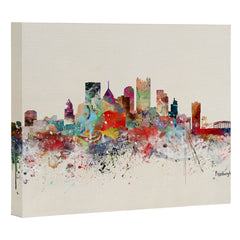 Brian Buckley pittsburgh city skyline Art Canvas