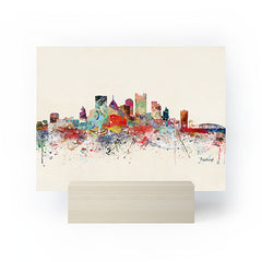 Brian Buckley pittsburgh city skyline Mini Art Print