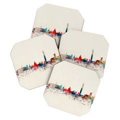 Brian Buckley washington dc skyline Coaster Set