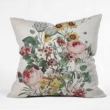 Burcu Korkmazyurek Romantic Garden Outdoor Throw Pillow