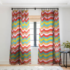 Camilla Foss Wavy Stripes Sheer Window Curtain