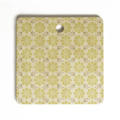Caroline Okun Vernal Blooms Cutting Board Square