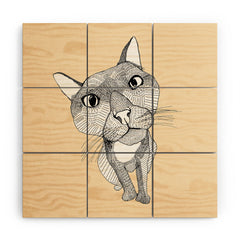 Casey Rogers Big Head Wood Wall Mural
