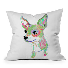 Casey Rogers Chihuahua Multi Throw Pillow