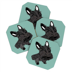 Casey Rogers Scottie Coaster Set