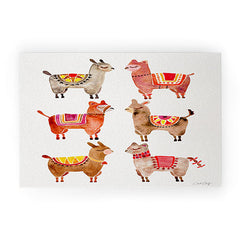 Cat Coquillette Alpacas by Cat Coquillette Welcome Mat