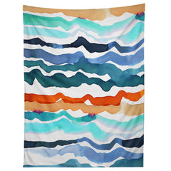 CayenaBlanca Beach Waves Tapestry