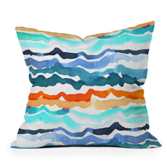 CayenaBlanca Beach Waves Throw Pillow