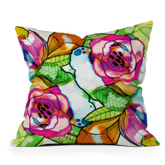 CayenaBlanca Fantasy Garden Throw Pillow