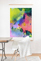 CayenaBlanca Ink Splashes Art Print And Hanger