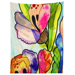 CayenaBlanca Queen Flower Tapestry