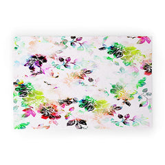 CayenaBlanca Romantic Flowers Welcome Mat