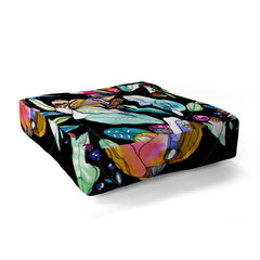 CayenaBlanca Spring WildFlowers Floor Pillow Square