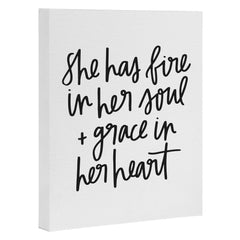 Chelcey Tate Grace In Her Heart BW Art Canvas