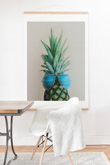Chelsea Victoria Pineapple In Paradise Art Print And Hanger