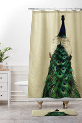 Chelsea Victoria Shake Your Tailfeather Shower Curtain And Mat