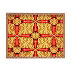Chobopop Horse Pattern Red Rectangular Tray