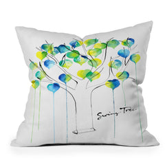 CMYKaren Swing Tree Throw Pillow
