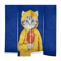 Coco de Paris Cat with fish Wall Mural