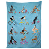 Coco de Paris Cycling Dogs Tapestry