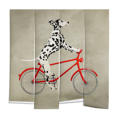 Coco de Paris Dalmatian on bicycle Wall Mural
