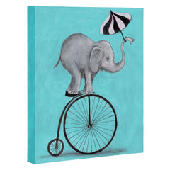 Coco de Paris Elephant with umbrella Art Canvas