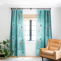 Coco de Paris Elephant with umbrella Blackout Window Curtain